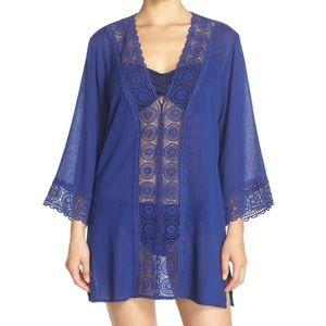 La Blanca swimwear cover-up blue NWT